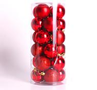 Modern Christmas Tree Xmas Balls Decorations Baubles Party Wedding Ornament 24Pcs 4Cm