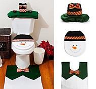 Комплекты 1 счастливый снеговик рождества комплект для ванной комнаты туалет сиденье крышка ковер украшения Xmas год adornos де Навидад