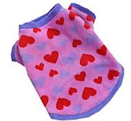 Недорогие -Кошка Собака Футболка Одежда для собак На каждый день Сердца Розовый Костюм Для домашних животных