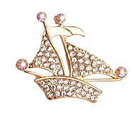 горячие продажи блестящий кристалл корабль брошь для женщин