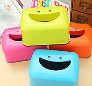 cheap -Creative Smiling Face Tissue Box Tissue Box Cartoon Dining Table Smile (Random Colours)