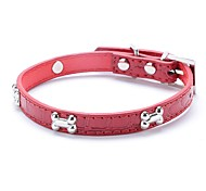 Dog Collar Adjustable / Retractable Running Hands free Casual Cosplay Geometic PU Leather Black Red Blue Pink