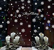 Недорогие -Рождество / Романтика / Праздник Наклейки Простые наклейки / Зеркальные стикеры Декоративные наклейки на стены,PVC материал Съемная