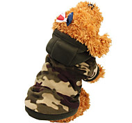 Cat Dog Coat Hoodie Dog Clothes Keep Warm Fashion Camouflage Camouflage Color Leopard Costume For Pets
