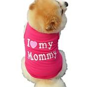 Недорогие -Кошка Собака Футболка Жилет Одежда для собак Буквы и цифры Черный Розовый Хлопок Костюм Для домашних животных Муж. Жен. Очаровательный На