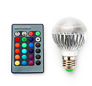cheap -3.5W 200-300 lm E14 E26/E27 B22 LED Smart Bulbs G60 1 leds Integrate LED Dimmable Decorative Remote-Controlled RGB AC 85-265V
