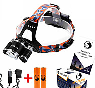 ZQ-G808 Headlamp Straps LED 8500LM Lumens 4 Mode Cree XM-L T6 2 x 18650 Batteries Adjustable Focus Anglehead Super Light Dimmable Easy