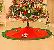 Decoracion Navidad Christmas Decorations For Home Straight Edge 90CM Non-Woven Christmas Tree Skirt Aprons