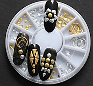 1PC  Japanese Small Alloy About 120 Star 6 Paragraph Golden Silver With The Moon