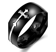 cheap -Men's Stainless Steel Ring - Cross Others Unique Design Fashion Black Ring For Daily Casual Sports