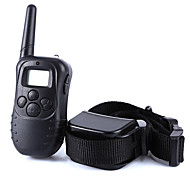 cheap -Dog Bark Collar Dog Training Collars Anti Bark 300M Remote Control Electronic/Electric LCD Display Shock/Vibration Solid Plastic Black