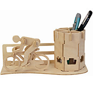Bicycle Brush Puzzles Wooden Puzzles Building Blocks DIY Toys Famous buildings / Bicycle 1 Wood Ivory Puzzle Toy