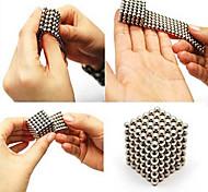 Недорогие -216pcs 3 мм серебро diy магнитные шары шар шарик волшебный куб магнит головоломка здание блок образование игрушка