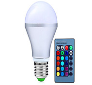 cheap -250-350 lm E14 GU10 E26/E27 B22 LED Smart Bulbs A60(A19) 3 leds High Power LED Dimmable Decorative Remote-Controlled RGB AC 85-265V