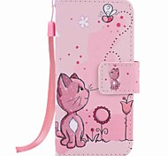 Cats and Bees Painting PU Phone Case for apple iTouch 5 6