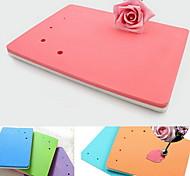помады украшения торта пены коврик Sugarcraft цветок моделирование площадка (случайный цвет)