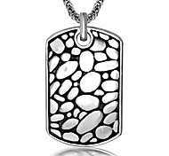 Necklace Non Stone Jewelry Daily / Casual Dangling Style Titanium Steel Men 1 pair Gift Silver