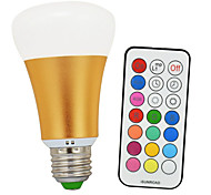 E26/E27 LED Globe Bulbs A60(A19) 1 COB 900lm-1200lm lm Cold White RGB RGB multicolor+ Daylight White 6500K K Infrared Sensor Dimmable