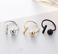 Band Rings Alloy Ball Fashion Gold Black Silver Jewelry Daily 1pc
