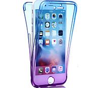 Недорогие -Кейс для Назначение Apple iPhone 8 iPhone 8 Plus iPhone 6 iPhone 7 Plus iPhone 7 Защита от удара Чехол Градиент цвета Мягкий ТПУ для
