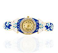 Women's Bracelet Watch Mechanical manual-winding Alloy Band Butterfly Bohemian Bangle Elegant Gold