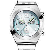 cheap -Women's Wrist Watch Water Resistant / Water Proof / Cool / Three Time Zones Stainless Steel Band Luxury / Vintage / Casual Silver