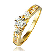 cheap -Women's AAA Cubic Zirconia Gold Plated / 18K Gold Ring - Gold Ring For Wedding / Party / Daily