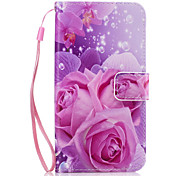For Card Holder / Wallet / with Stand Case Back Cover Case Flower Hard PU Leather for SamsungJ7 (2016) / J7 / J5 (2016) / J5 / J3 / J3