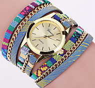 Women's Fashion Watch Wrist watch Bracelet Watch Punk Colorful Quartz Fabric Band Vintage Bohemian Charm Bangle Cool Casual Multi-Colored Strap Watch