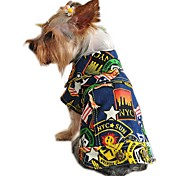 Cat Dog Denim Jacket/Jeans Jacket Dog Clothes Denim Spring/Fall Winter Holiday Fashion Jeans Yellow Light Blue Rainbow For Pets