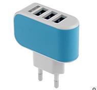 cheap -Home Charger USB Charger US Plug / EU Plug Fast Charge / Multi Ports 3 USB Ports 3.1 A