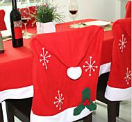 1PCS Christmas Decorations Non-woven Snowflakes Chair Covers 50*65Cm