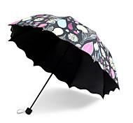 cheap -South Korean Princess Leaves  Black Glue Anti Ultraviolet Ray Umbrella  Seventy Percent off Rain  Dual Purpose Sun Umbrella  Small Fresh Wave