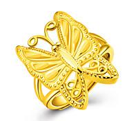 Ring Bandringe Gold 18K Gold Tierform Schmetterling Golden Schmuck Für Party Geburtstag Alltag Normal 1 Stück