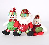 Недорогие -3шт складная горячей продажи рождественские украшения Санта-Клауса снеговик рождественские фигурки