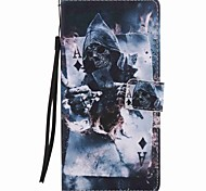 cheap -Case For Sony Xperia Z5 Sony Xperia XA Ultra Sony Sony Xperia X Performance Card Holder Wallet with Stand Full Body Cases Skull Hard PU