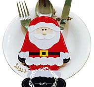 abordables -2pcs Santa Claus cubertería decoraciones de Navidad