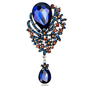 Women's Fashion Alloy/Rhinestone/Crystal Flower Water-drop Brooches Pin Party/Daily/Wedding Jewelry 1pc
