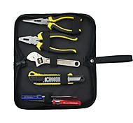 Rewin инструмент 6pcs домовладельцев набор инструментов с плоскогубцами и гаечный ключ и резак и отвертка
