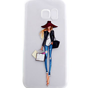 For Samsung Galaxy S7 S7edge Case Cover Fashion Girl Pattern High Permeability Painting TPU Material Phone Case