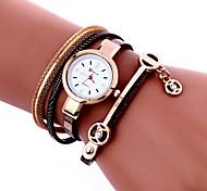 cheap -Women's Quartz Wrist Watch Bracelet Watch Colorful PU Band Charm Vintage Casual Bohemian Fashion Cool Bangle Black White Blue Red Pink