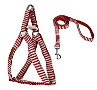 Navy Style Stripe Design Pe ts Walking Harness for Pets Dogs
