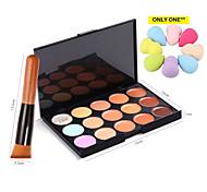 ConcelerPalette 15 Colors Kit Fix Contour Cream Brush Face Makeup Hide It