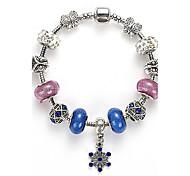 European and American Nations DIY Bracelet Box Buckle Crystal Bracelet Fashion Crystal Glass Beaded Bracelet Wholesale Jewelry Selling