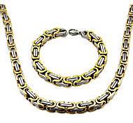 Men's Strands Necklaces Stainless Steel Basic Costume Jewelry Jewelry For Daily Casual