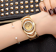 cheap -Women's Quartz Wrist Watch Bracelet Watch Skeleton Watch Rhinestone / Imitation Diamond Alloy Band Charm Sparkle Vintage Casual Dress