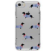 Недорогие -случай tpu собаки для iphone 7 7plus 6s / 6 6plus / 5s se iphone случаи