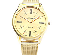JUBAOLI Men's Fashion Watch Casual Watch Quartz Alloy Band Gold