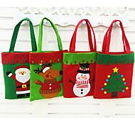 Chrismas моды стиль Санта-Клаус конфеты подарочные пакеты сумки мешок мешок настоящее украшение рождества 2016 подарок 1шт