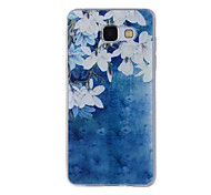 For Samsung Galaxy A8(2016) A8 A7 A5 A3 A510 A310 Case Cover White Flowers Painted Pattern TPU Material Phone Case